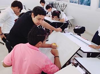 นักศึกษาชั้นปีที่ 1 สาขาวิชาสถาปัตยกรรม กับรายวิชาการก่อสร้างและวัสดุในงานสถาปัตยกรรม 1