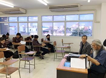 บรรยากาศการสอบนักศึกษาสาขาวิชาสถาปัตยกรรม